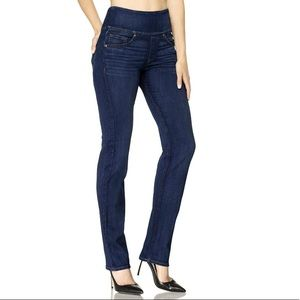 The SignatureStraight High Rise Straight Leg Jeans